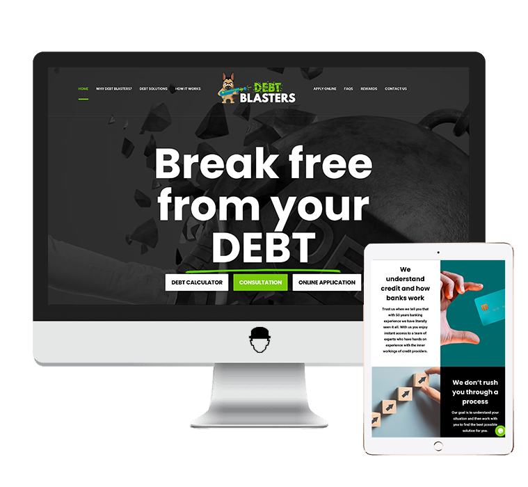 debt-blasters-website-design-and-development-agent-orange-design.png