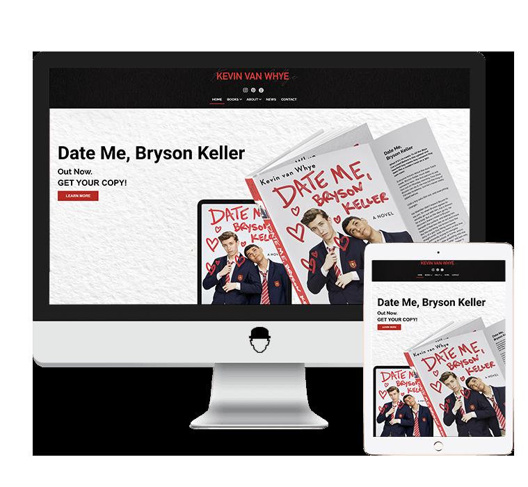 kevinvanwhye-author-website-design-and-development-agent-orange-design.png