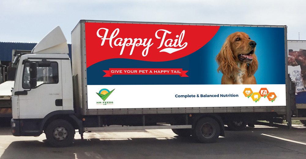 Case studies branding happy tail pet food business for Food truck design app