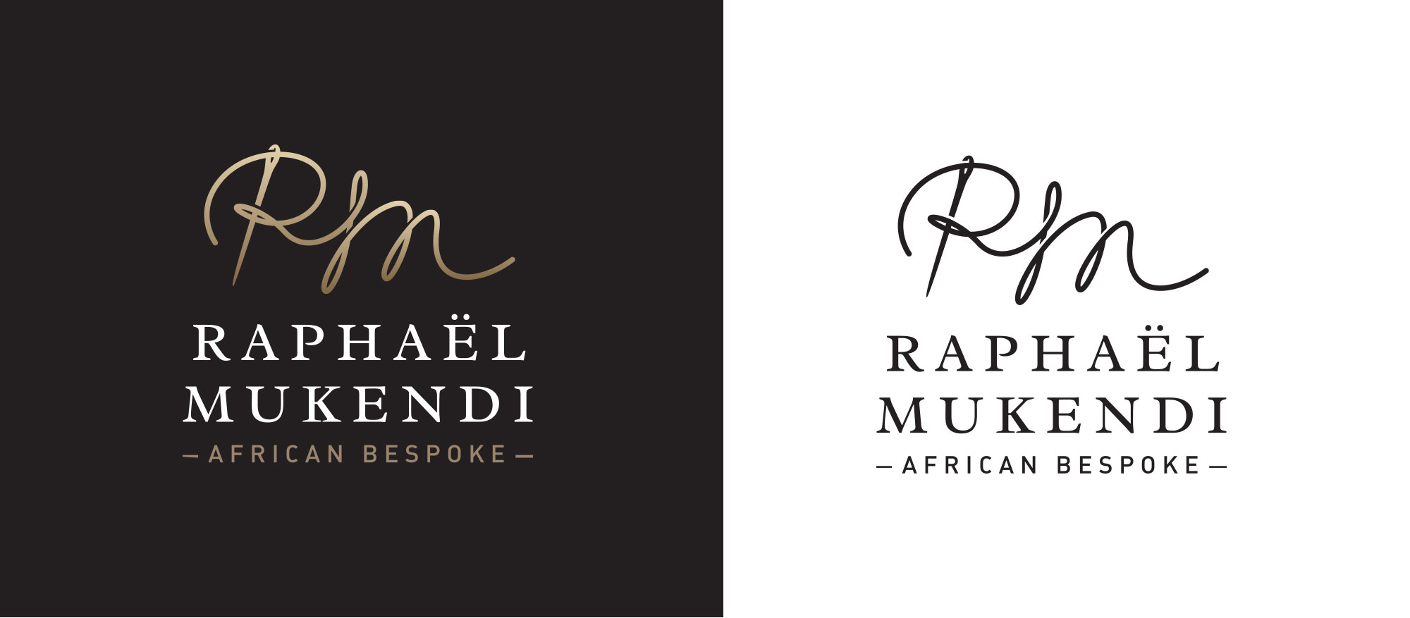 case study high fashion logo design raph228el mukendi