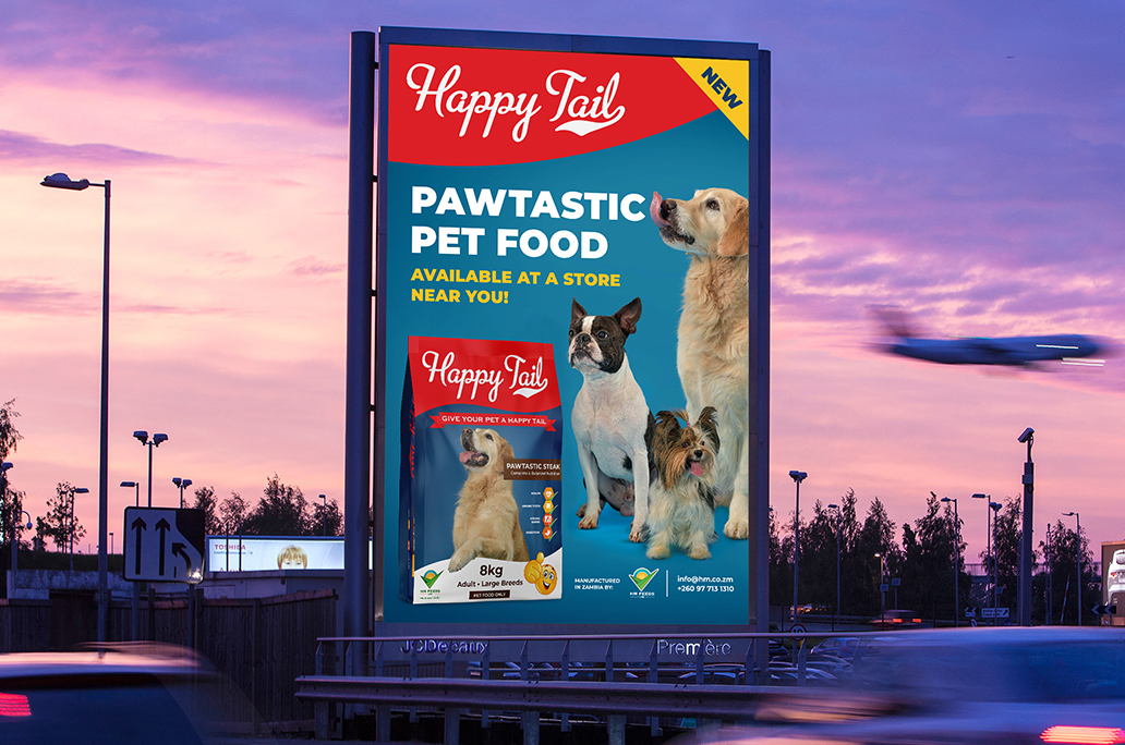 Happy Tail - Premium Dog Food - Billboard Advertising