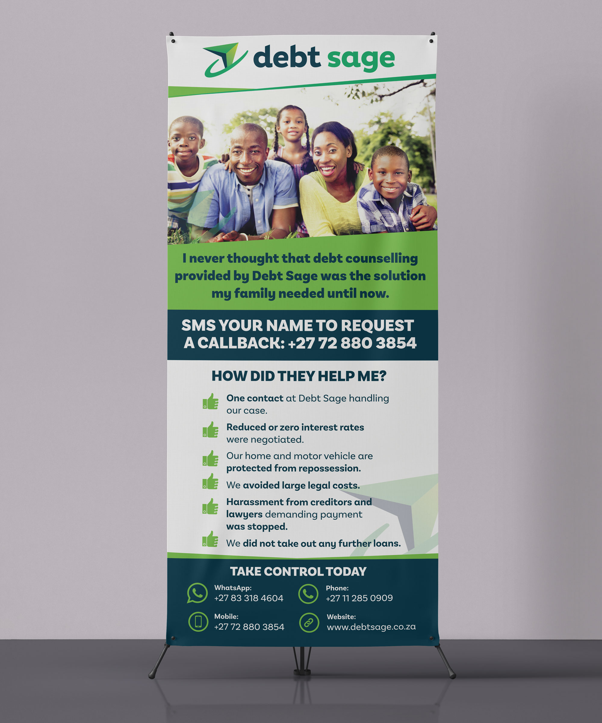 Corporate Pullup Banner Desig - Debt Sage