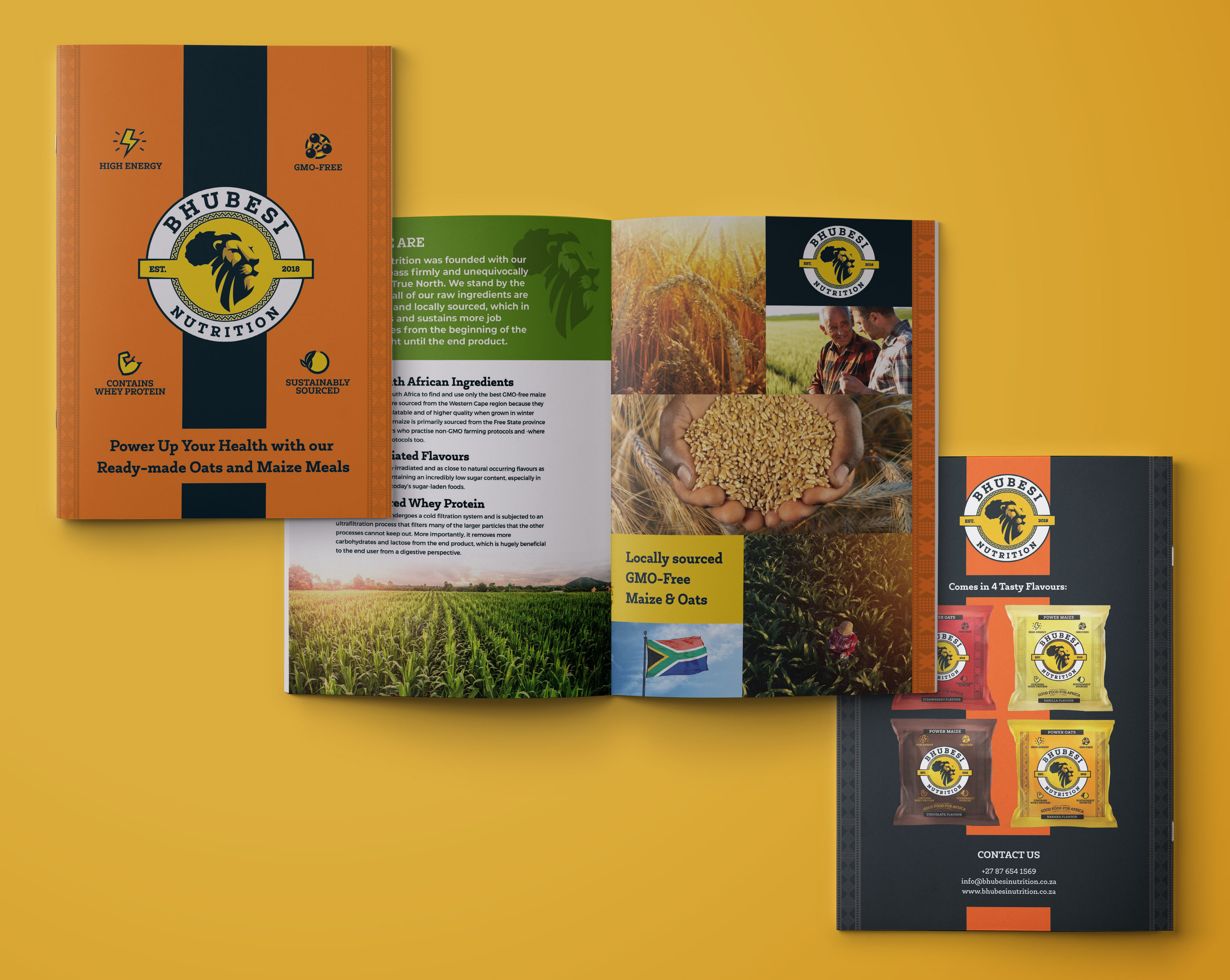 Bhubesi Nutrition Company Profile Graphic Design by Agent Orange South Africa