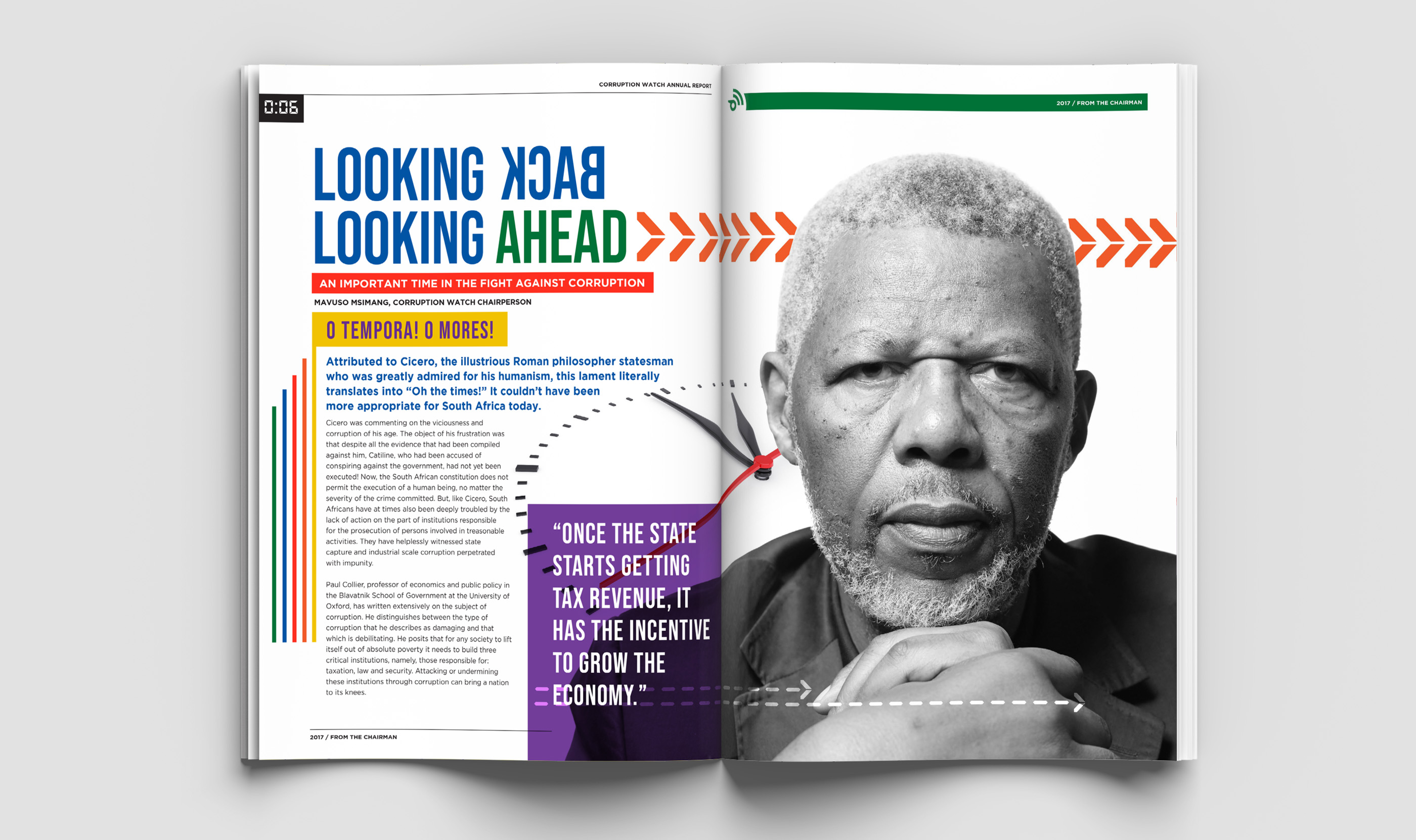 Corruption Watch Annual Report Layout Graphic Design by Agent Orange South Africa
