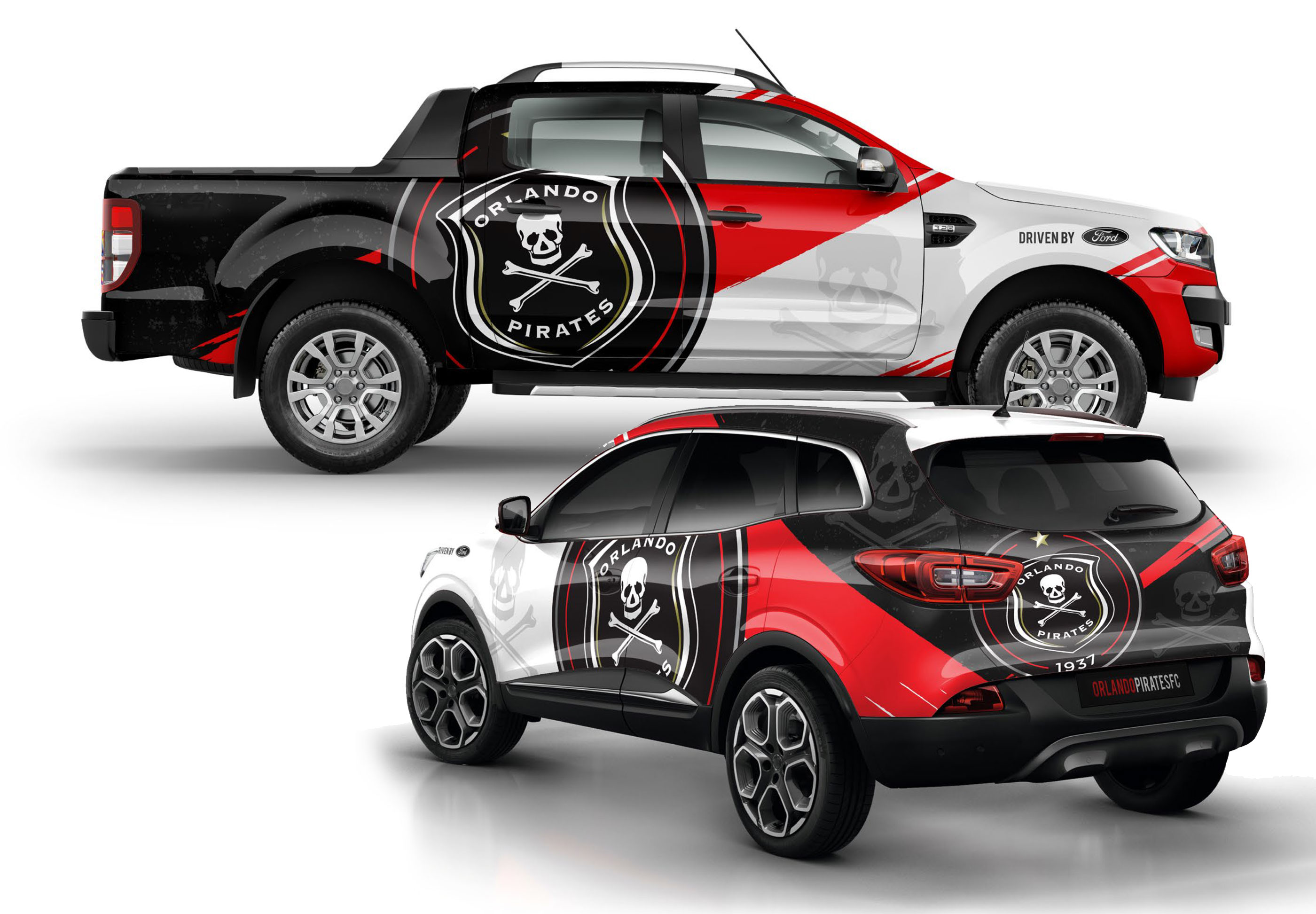 Orlando Pirates Vehicle Branding Agent Orange South Africa