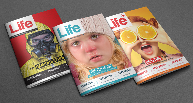 Medicare Pharmacies Life Magazine Covers Graphic Design by Agent Orange South Africa