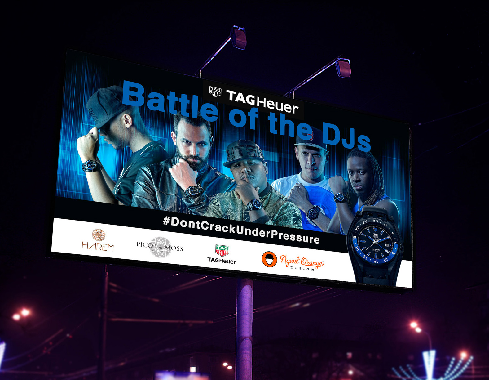 TAG Heuer Event Brandon Barnard Photographer and Graphic Design by Agent Orange South Africa