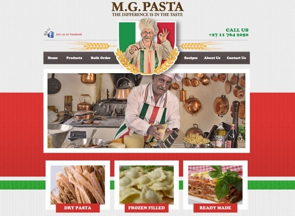 MG Pasta Design Development Company in Johannesburg South Africa