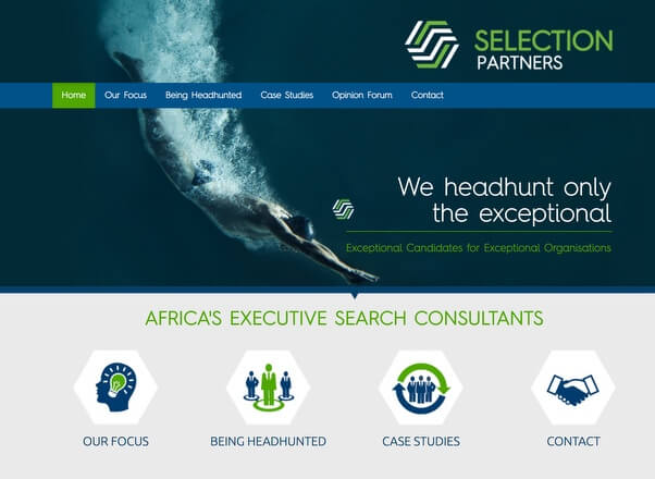 Recruitment company Website Designers Development by Agent Orange Johannesburg