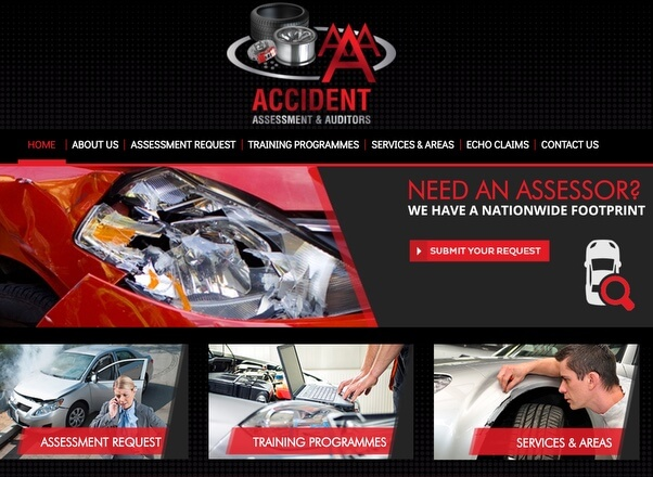 AAA accidents assessors Website Designers Developers Agent Orange South Africa