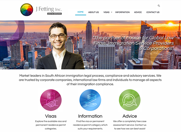 Immigration Attorneys J Fetting INC Website Design Development Companies in Johannesburg South Africa