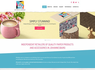 Stationery and Decoration Web Redesign Development by Agent Orange in Johannesburg