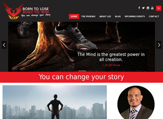 Born to Lose Built to Win Academy by Lee Roebeck - Responsive Website by Agent Orange Design