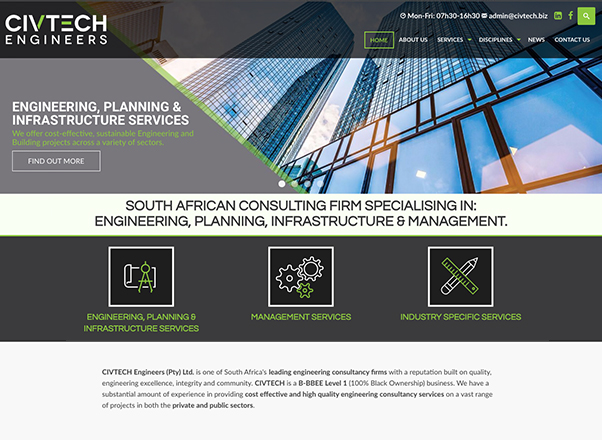 CIVTECH Engineers Business Website Redesign Development