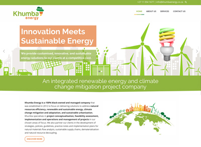 Khumba Energy Web design Developers in Johannesburg South Africa