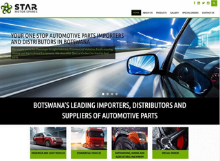Star Motor Spares Corporate Website Design and Development Botswana