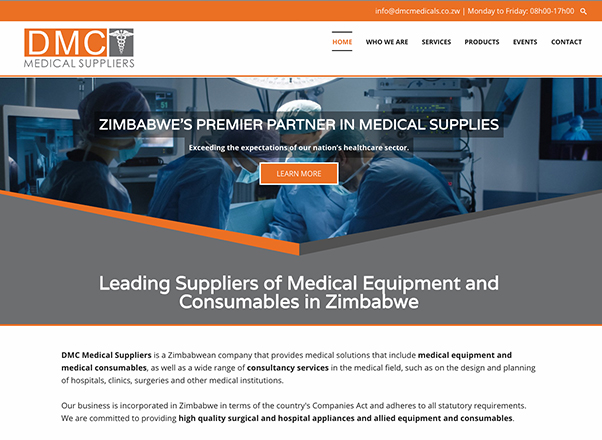 DMC Medical Suppliers South Africa Web Design Developers in Johannesburg South Africa