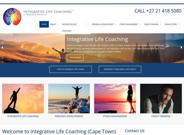 Integrative Life Coaching Warren Munitz Website Redesign and Development by Agent Orange Designers in Johannesburg