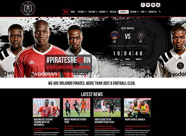 Orlando Pirates Foot Club Website Website Web Design Developers in Johannesburg South Africa