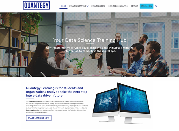 Quantegy Web Redesign Developers in Johannesburg South Africa