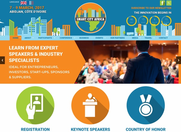 Smart City Africa in Abidjan - Event Website Design by Agent Orange Design