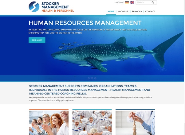 Stocker Management - Consulting Company in Switzerland - Responsive Website Development by Agent Orange Design South Africa