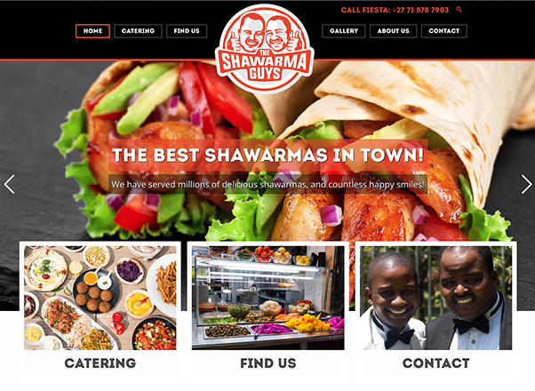 The Shawarma Guys Catering Website Web Design Developers in Johannesburg South Africa