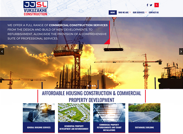 Affordable Housing Construction & Commercial Property Development Company Website Design and Development