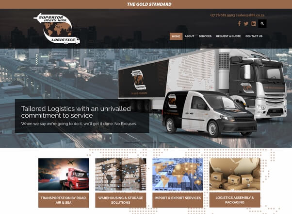 Website Designers for Logistics Companies in Johannesburg South Africa