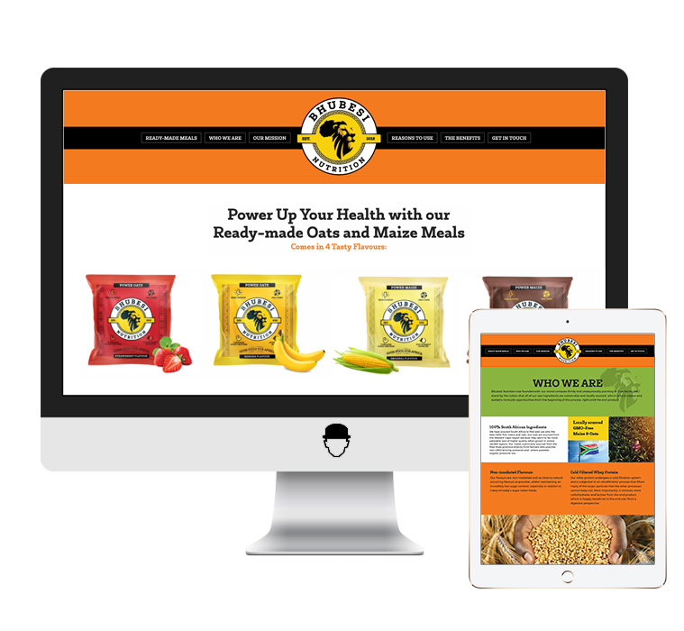Bhubesi Nutrition Website Design by Agent Orange Design