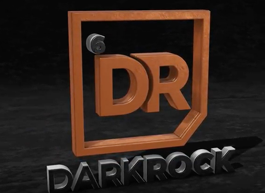 Dark Rock Logo Animation Agent Orange Design