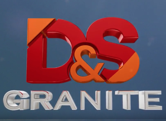 D&S Granite Logo Animation Agent Orange Design