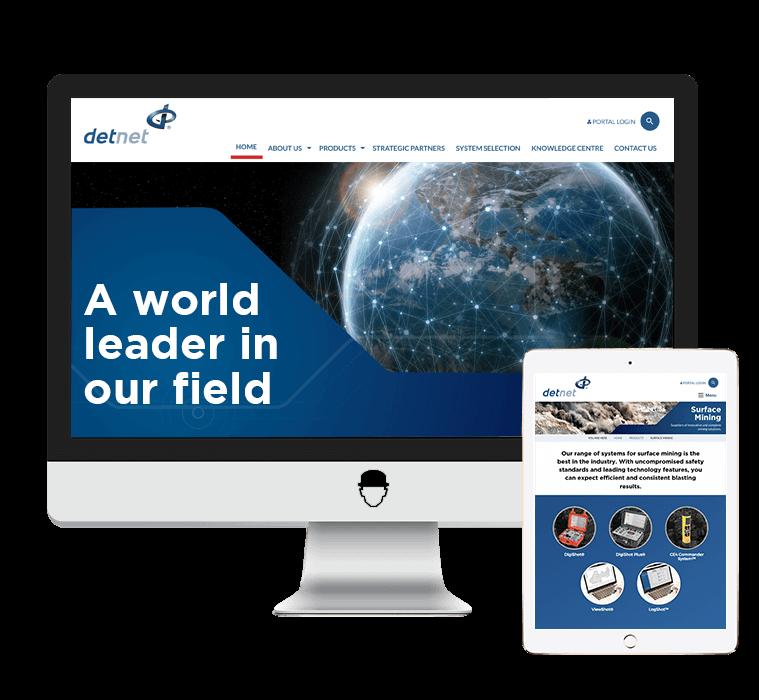 DetNet Website Design by Agent Orange Design