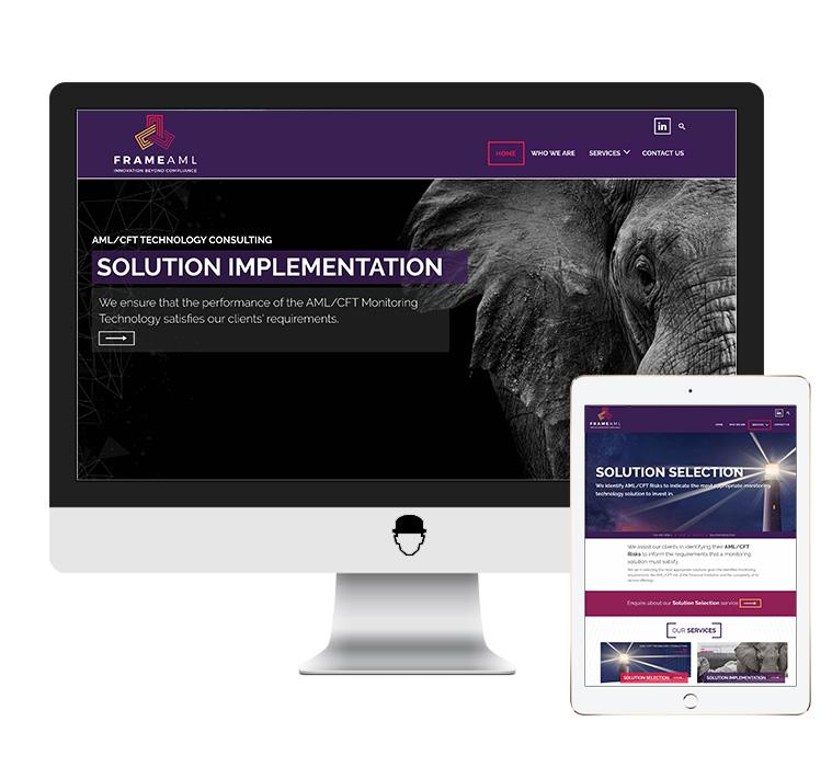 Frame AML Website Design by Agent Orange Design