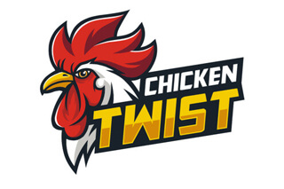 Chicken Twist African Fast Food Brand by Agent Orange Logo Designers