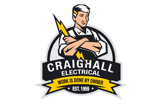 Craighall Electrical Services Company Logo Design by Agent Orange Creatives