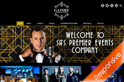 Gatsby Productions Website  by Agent Orange Design