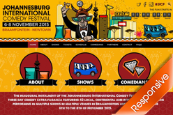 Johannesburg International Comedy Festival 2015 JICF website design by Agent Orange Design