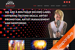 Xhentsa Entertainment Record Company Website Development - By Agent Orange Design in Johannesburg South Africa
