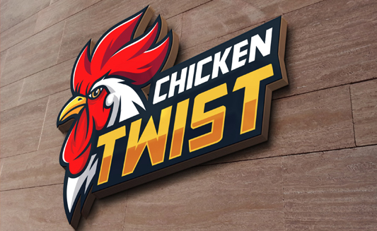 Chicken Twist Logo Design by Agent Orange South Africa