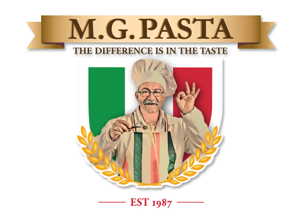 MG Pasta Food Company Logo Design by Agent Orange creative agency in Johannesburg
