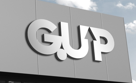 G UP Typographic Logo Design by Agent Orange South African Agency