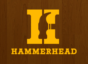 Hammerhead Construction Building Company Logo by Agent Orange Design agency in Johannesburg