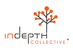 Indepth Collective Branding Logo Design by Agent Orange South African creative agencies