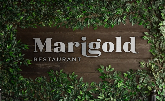 Marigold Restaurant Kitwe Logo redesign Agent Orange South African agency