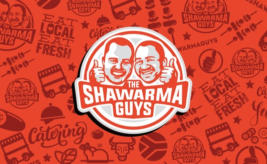 The Shawarma Guys character Logo redesign Agent Orange South Africa