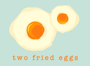 Two Fried Eggs Original Logo Design by Agent Orange Creative Studio in South Africa