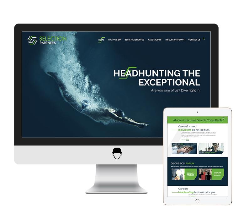 Selection Partners Website Design by Agent Orange Design