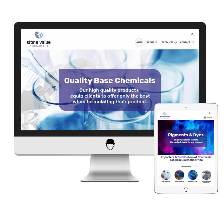 Stone Value Chemicals Website Design by Agent Orange Design