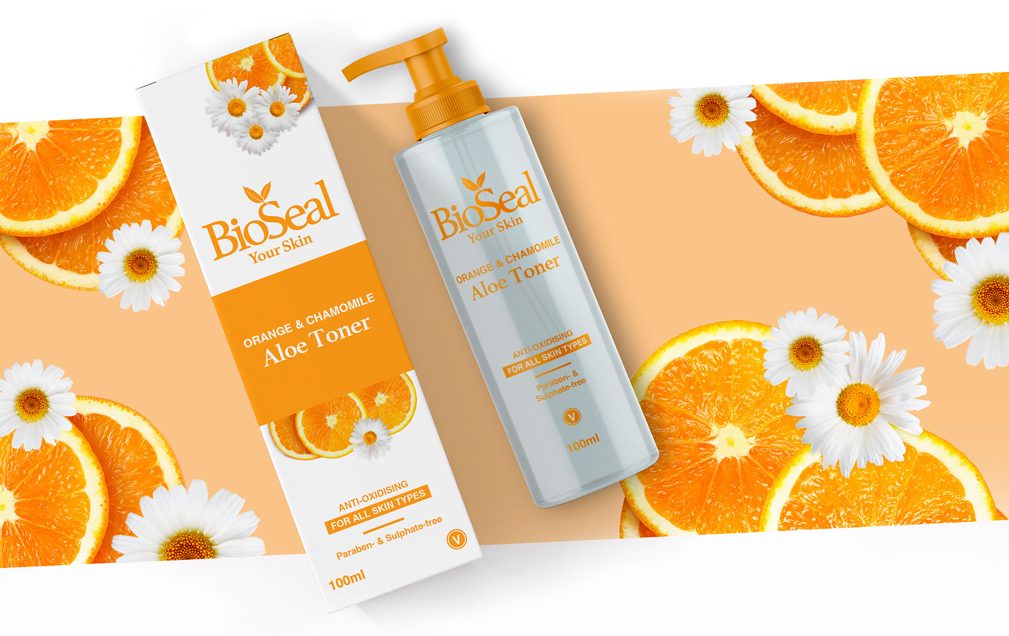 BioSeal Toner - Agent Orange Design Packaging Design Company in Johannesburg South Africa